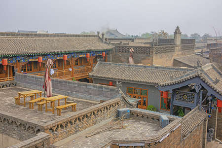 Looking over the houses of Pingyao seen from the city wall