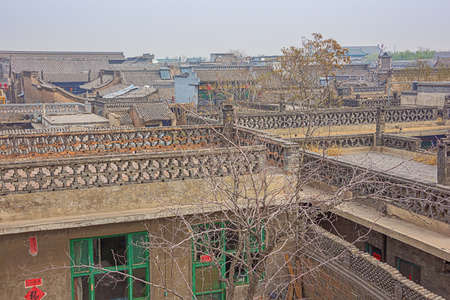 Looking over the old town of Pingyao seen from the city wall