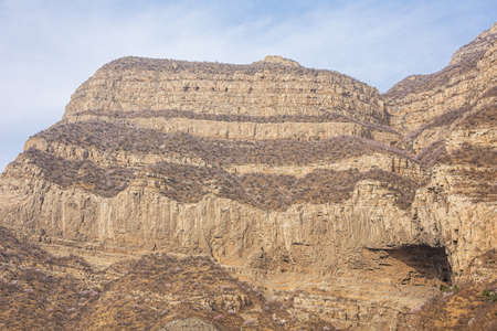 View of Mount Hengshan opposite to the Hanging Temple near Datong