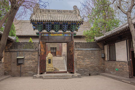 Gate to a courtyard in the Confucian temple complex in the old town of Pingyao