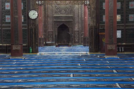 View inside the Great Prayer Hall of the Great Mosque in Xian