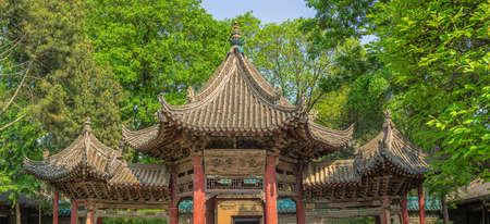 Upper part of the hexagonal gazebo in a courtyard of the Great Mosque in Xian