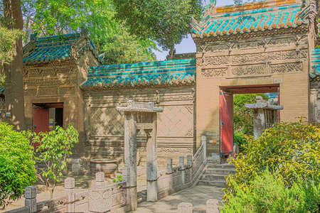 Wall separating two courtyards of the Great Mosque in Xian