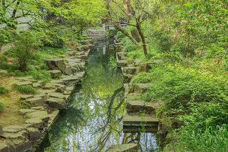Artificial river in the Liu Garden in Suzhou