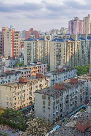 View of living apartments in Shanghai
