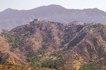 View of the landscape of the Great Wall in the vicinity of Badaling Imagens