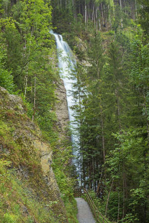 Waterfall at the entrance of the Kitzlochklamm, a deep gorge near Zell am See
