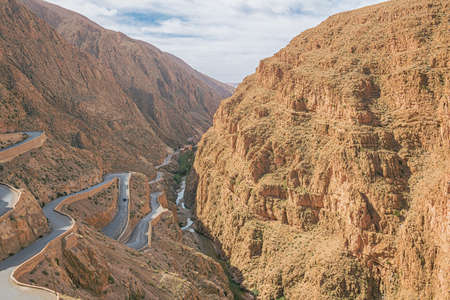 View into the Dades Gorges near the highest point of the road