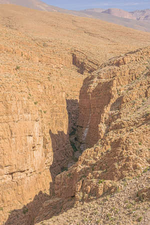 Close up of the narrowest section of the Dades Gorges near the highest point of the road