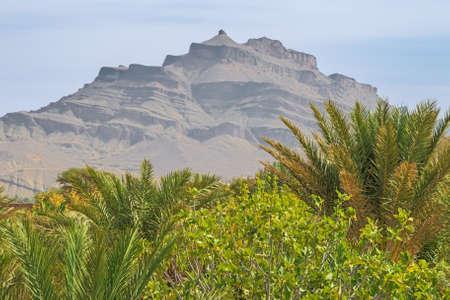 View of Dbel Kissane near Agdz on road 9 from Ouarzazate to Agdz 版權商用圖片