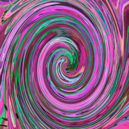Colorful abstract pink spiral. The dabbing technique near the edges gives a soft focus effect due to the altered surface roughness of the paper.