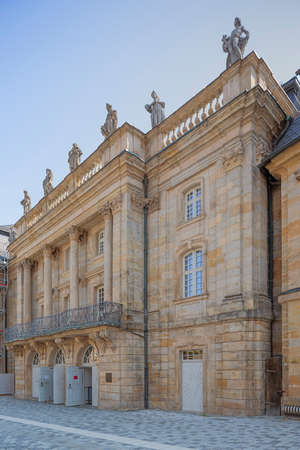 Facade of the Margravial Opera House in the center of Bayreuth