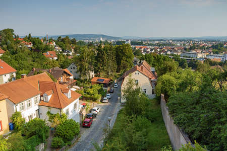 Overlooking Bamberg from the Michaelsberg on the platform near the abbey