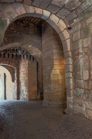 Behind the entrance door and the grate inside Veste Coburg