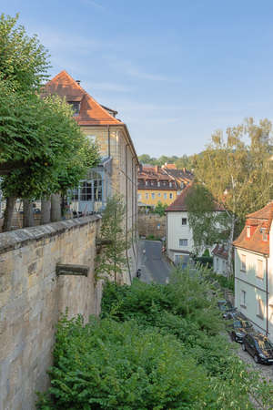 The streets around Michaelsberg Abbey seen from the platform near the abbey