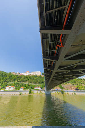 Under the Luitpold Bridge on the bank of the Danube