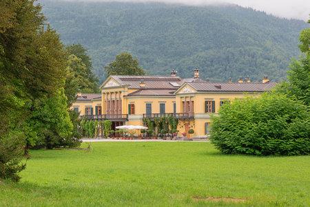 Editorial: BAD ISCHL, UPPER AUSTRIA, AUSTRIA, August 14, 2020 - Distant view of the imperial villa in Bad Ischl Editorial