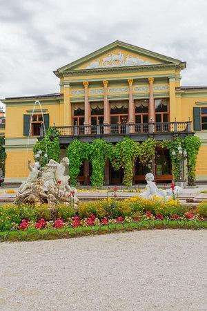 Editorial: BAD ISCHL, UPPER AUSTRIA, AUSTRIA, August 14, 2020 - Frontal view of the imperial villa in Bad Ischl