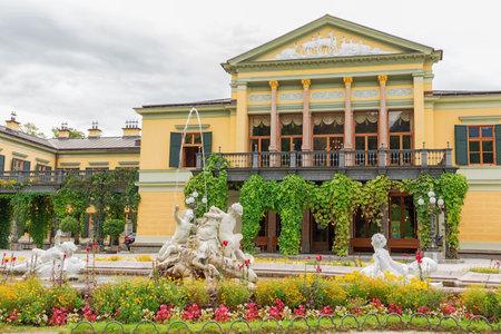 Editorial: BAD ISCHL, UPPER AUSTRIA, AUSTRIA, August 14, 2020 - The entrance of the imperial villa in Bad Ischl Editorial