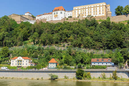 View of Veste Oberaus seen from the banks of the Danube