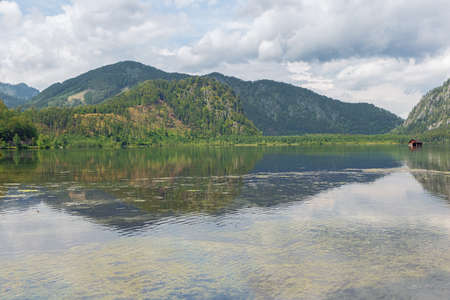 The Almsee and the Ameissteig, seen from the southern shore of the lake