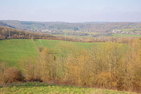 Valley landscape in the Condroz at Warnant, near Namur