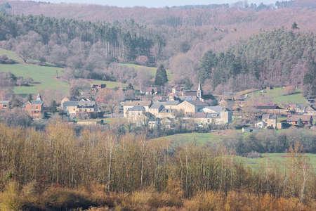 Warnant sitting against a hillside in the Condroz, near Namur