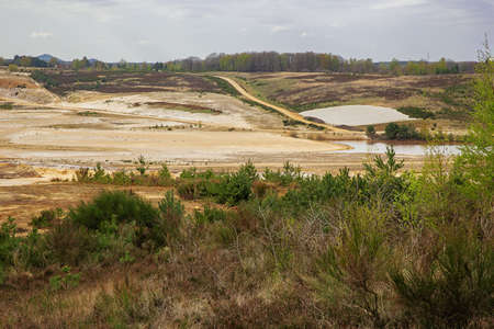 Overview of a sand quarry in the Mechelse Heide