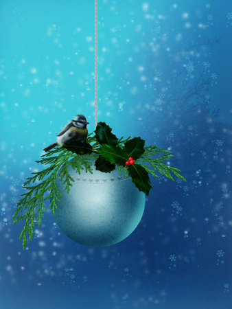 big ball: Christmas ball with big tit Stock Photo