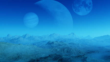 desolacion: 3d rendered Space Art: Alien Planet - A Fantasy Landscape