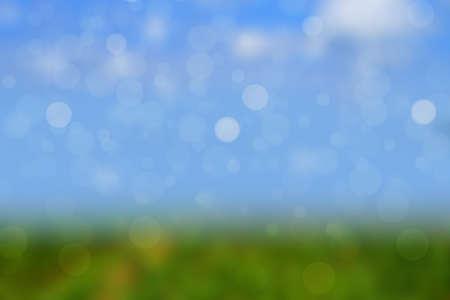defocus: Beautiful Nature Bokeh.Blurred background Stock Photo