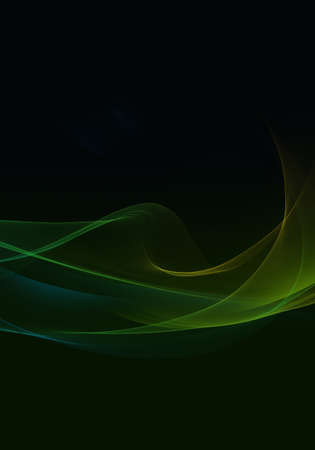 Abstract background waves. Black, green and blue abstract background with space for your text