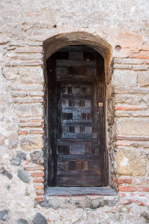 Door inside the Alcazaba of Merida (Spain)