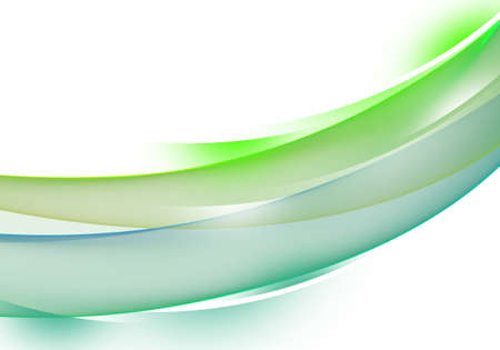Abstract background waves. White and green abstract background for business card or wallpaper Stock fotó