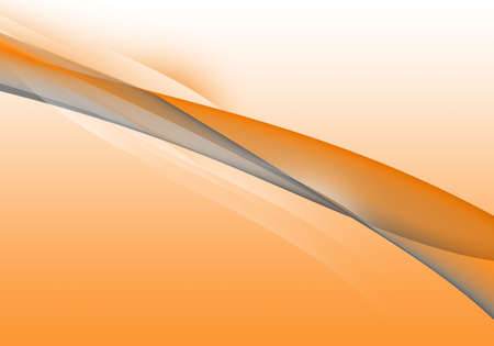 Abstract background waves. White, grey and orange abstract background