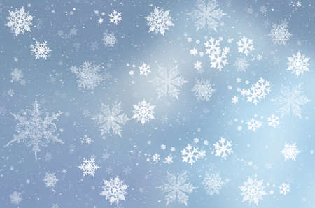 Sfondo invernale blu con fiocchi di neve per le tue creazioni