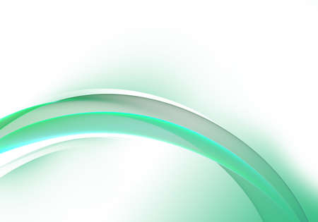 Abstract background waves. White, green and grey abstract background