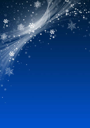 Blue Winter Background with snowflakes for your own creations Stock Photo