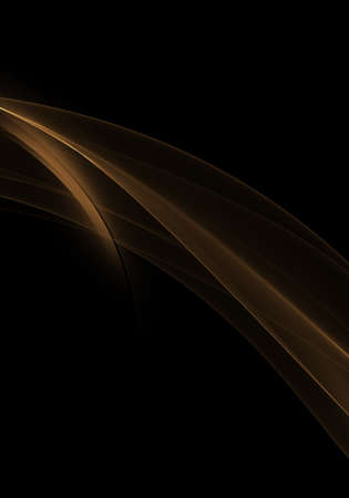 Abstract Background Waves Black And Golden Abstract Background