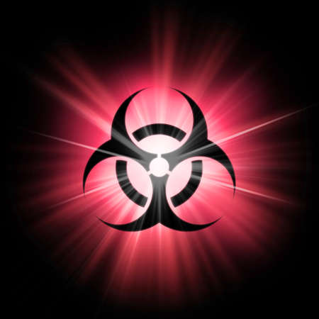 Bio-hazard Health Medical Warning Symbol. Corona virus 2019-nCoV.