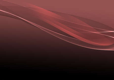 Abstract background waves. Black and marsala red abstract background for wallpaper or business card