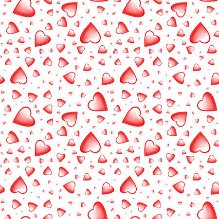 Red hearts on white background, Love seamless pattern for wallpaper, wrapping, scrapbooking, valentine \ 's day