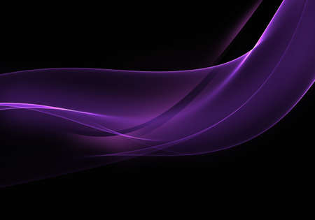 Abstract background waves. Black and grape purple abstract background for wallpaper or business card