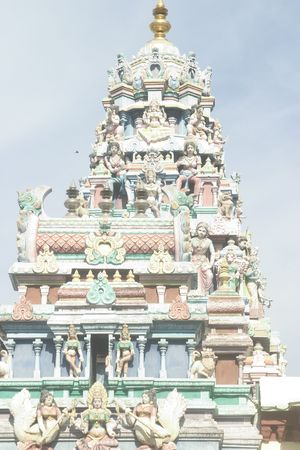 mariamman: Detail of Sri Mariamman Hindu temple in Penang, Malaysia Stock Photo