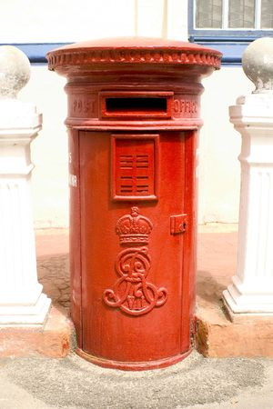 king edward: An old Edward VII post box in historic Georgetown in Penang