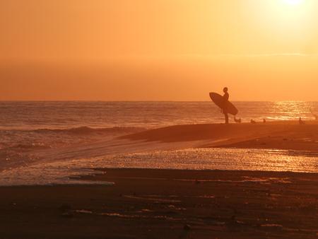 Goldenhour in Trestles beach, California Imagens