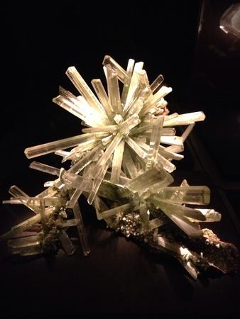 Quartz crystals on display Stock Photo - 21999728
