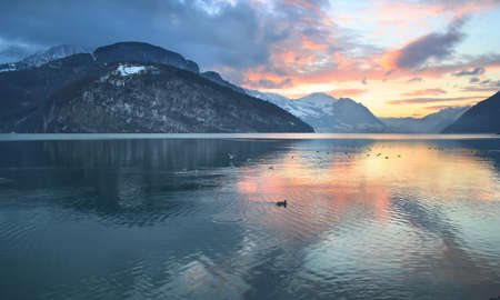 spiegelung: Color Lake evening
