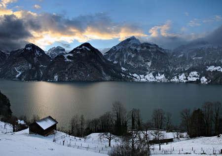 schweiz: Winter story �2 Stock Photo