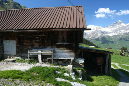 farme: Alpine farme Archivio Fotografico